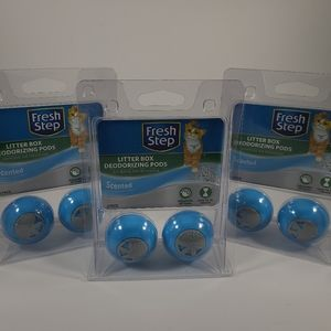 Fresh Step Litter Box Deodorizing Pods NEW 3 sets